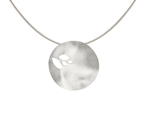 Scattered Leaves Disc Pendant