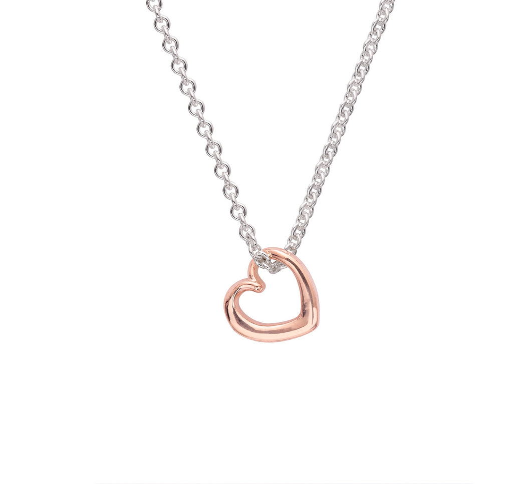 Andra Mini Heart Necklace Rose Gold