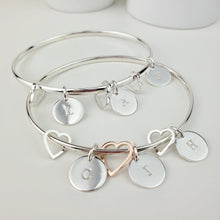 Heart Fragments Personalised Bangle
