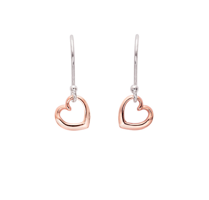 Andra Heart Earrings Rose Gold