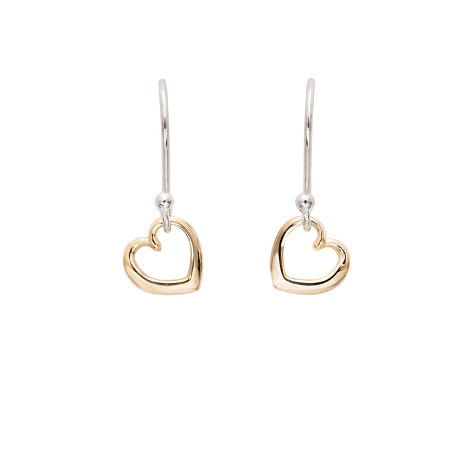 Andra Heart Earrings Yellow Gold