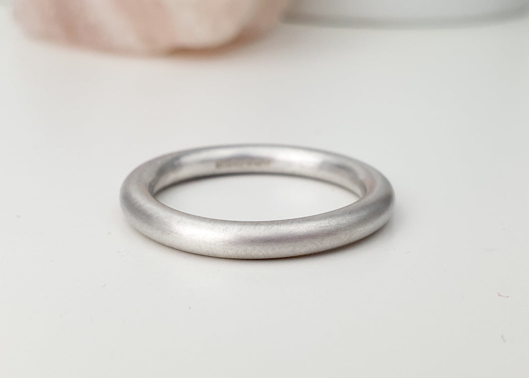 Sterling silver halo ring