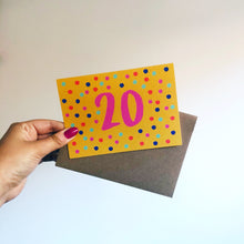 'Happy 20th Birthday' Card