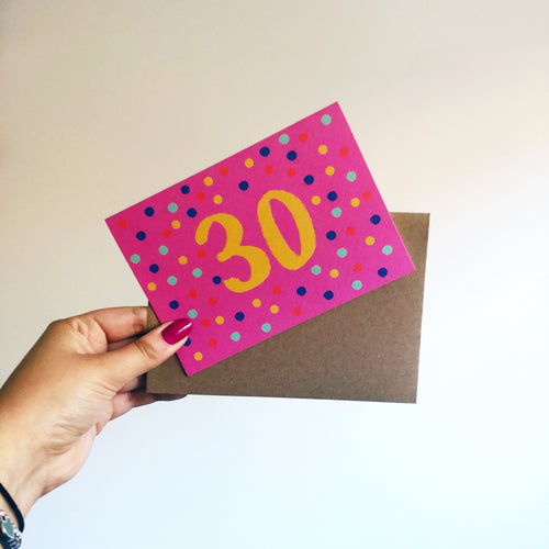 30th Birthday Card