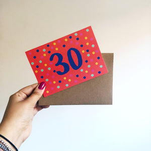 'Happy 30th Birthday' Card