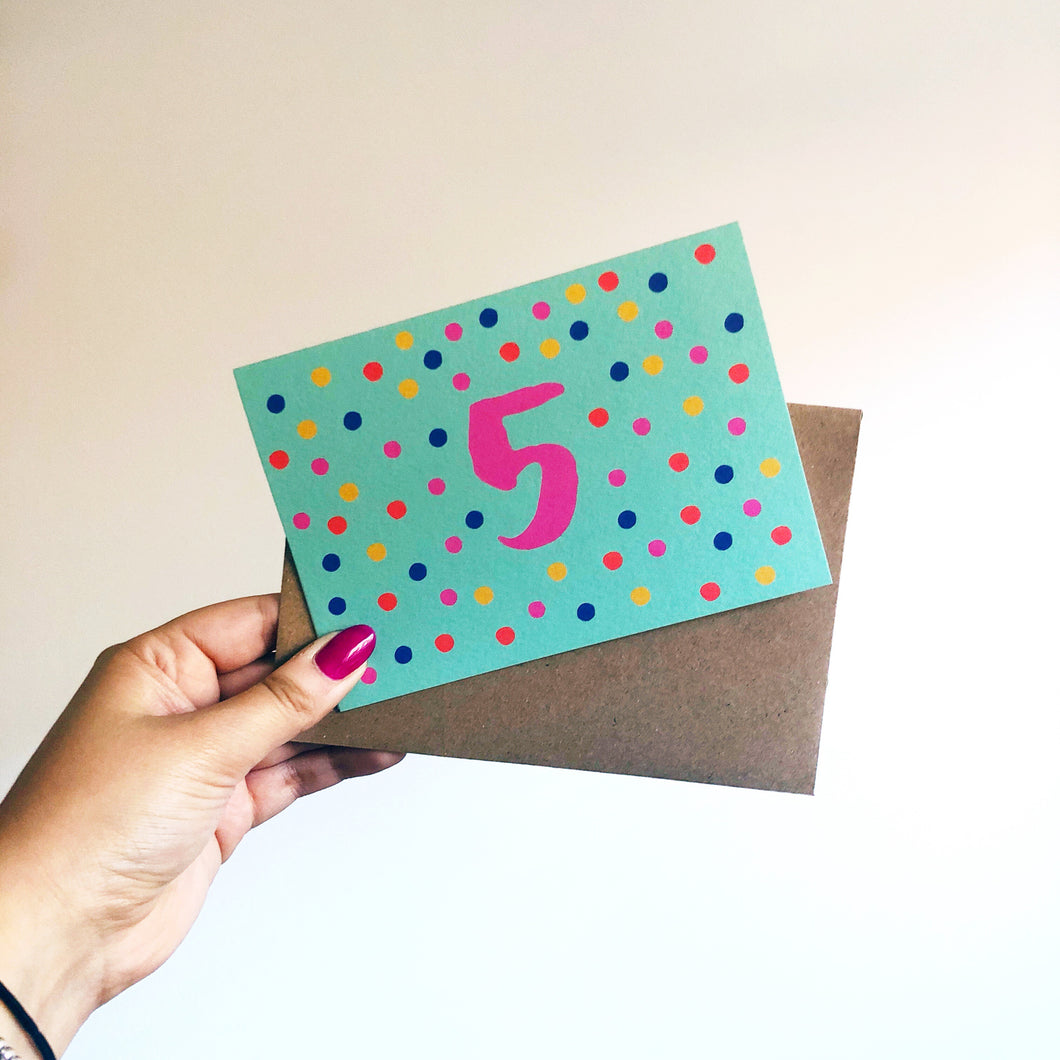 5th Birthday Card