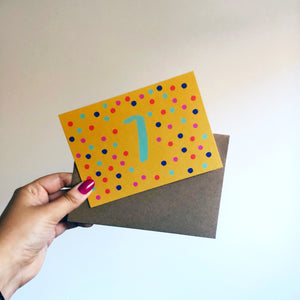 Seventh Birthday Card