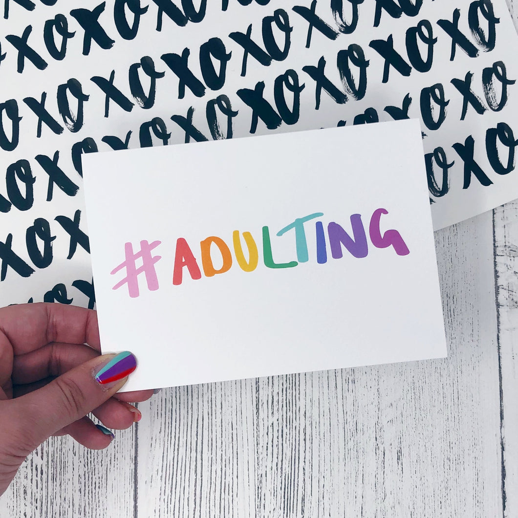 #adulting Card