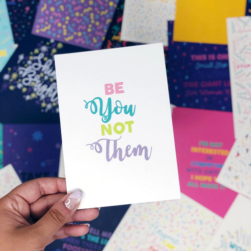 ***50% OFF***'Be You Not Them' A6 Postcard