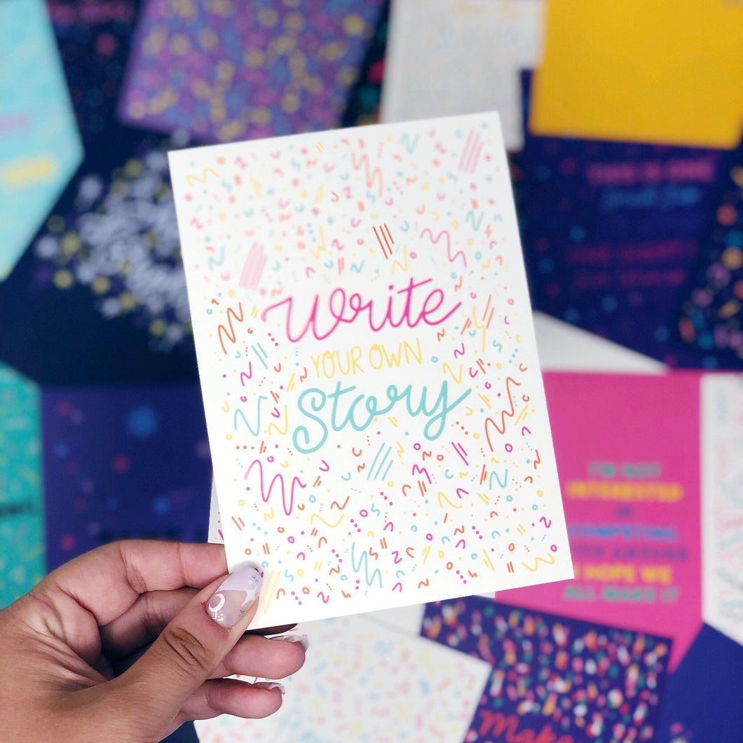 'Write Your Own Story' A6 Postcard