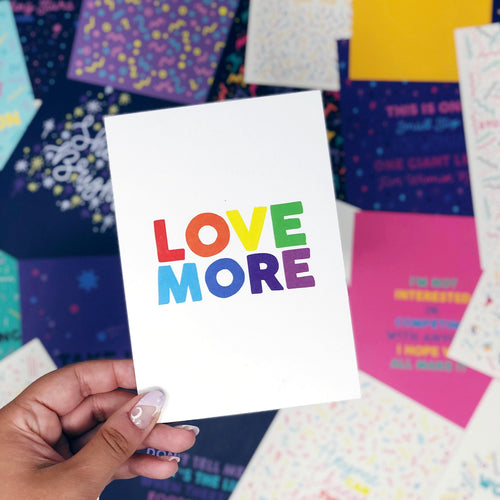 ***50% OFF*** 'Love More' A6 Postcard