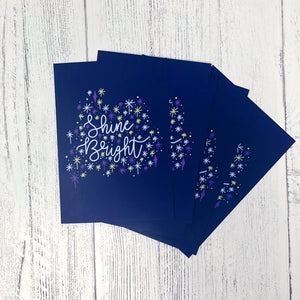 Shine Bright A6 Postcard
