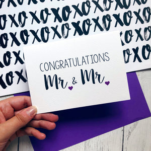 'Congratulations Mr and Mr' Wedding Card