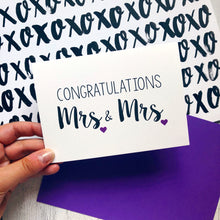 'Congratulations Mrs and Mrs' Wedding Card