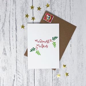 ***50% OFF*** Holly Christmas Cards Pack of 10