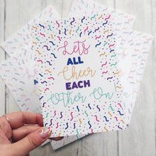 'Let's Cheer Each Other On' A6 Postcard