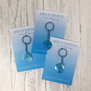World Is Your Oyster Keyring