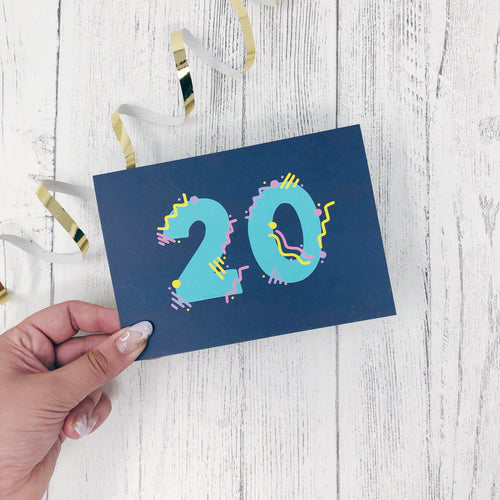 20th Birthday Card