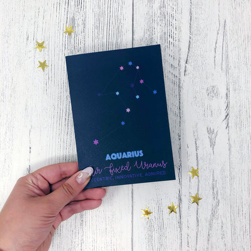 Aquarius Constellation Card