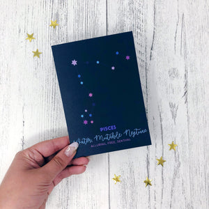 Pisces Constellation Card