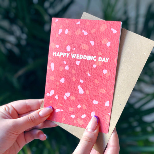 Happy Wedding Day Terrazzo Card