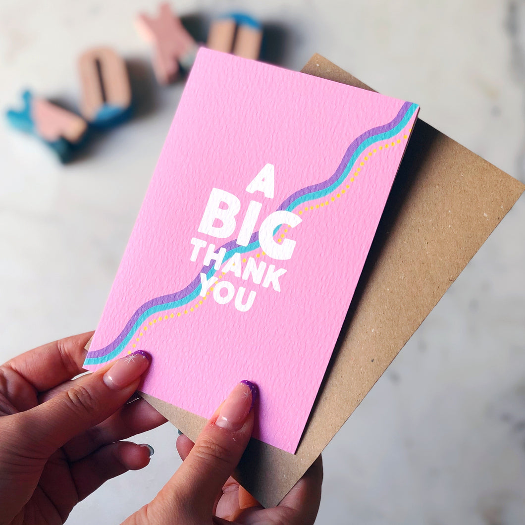 A Big Thank You Card