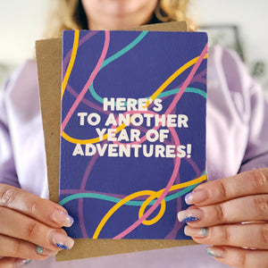 Here's To Another Year Of Adventures  Card