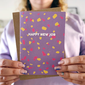 Happy New Job Terrazzo Card