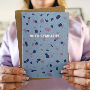 With Sympathy Terrazzo Card