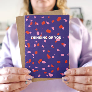 Thinking Of You Terrazzo Card