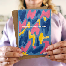 Sending You Lots of Love Lava Lamp Card