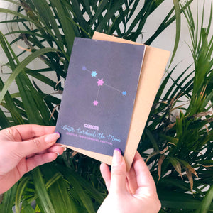 Cancer Constellation Card