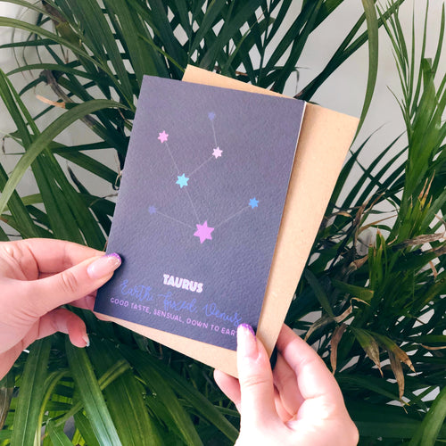 Taurus Constellation Card
