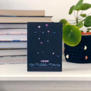 Gemini Constellation Card