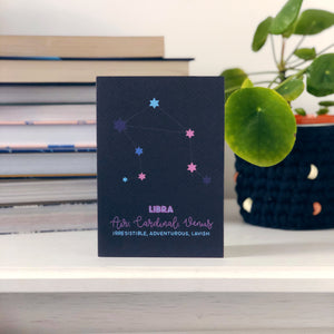 Libra Constellation Card