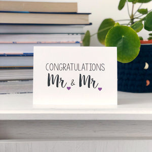 Congratulations Mr and Mr Wedding Card