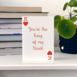 King Of My Heart Card