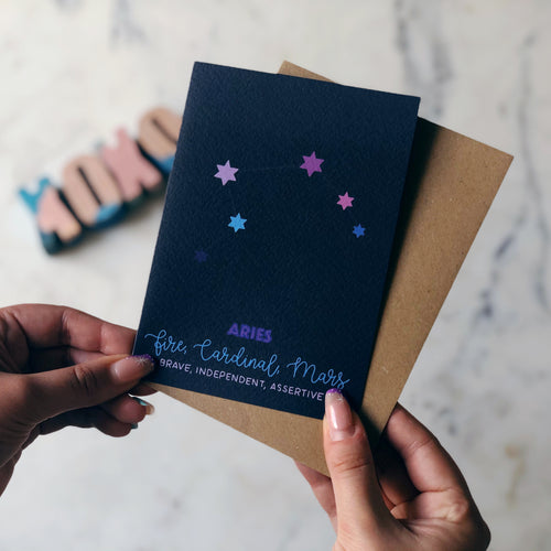 Aries Constellation Card