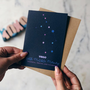 Virgo Constellation Card