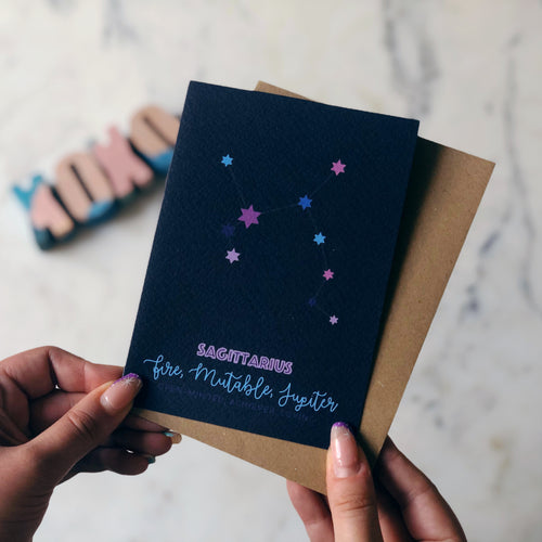 Sagittarius Constellation Card