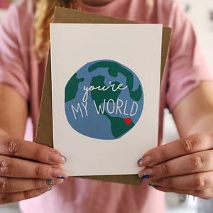 You're My World Card