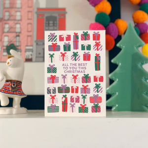 Colourful Christmas Card 'All The Best To You This Christmas'