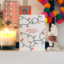 Colourful Christmas Card 'Wishing You A Bright and Merry Christmas'