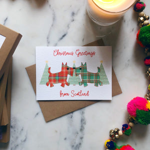 Scottish 'Christmas Greetings from Scotland' Bagpipes Card