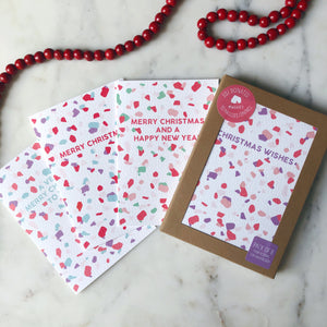 Charity Christmas Cards Pack of 8 Terrazzo Design
