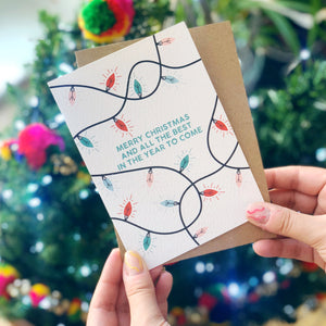 Colourful Christmas Card 'Merry Christmas and all the Best For The Year To Come'
