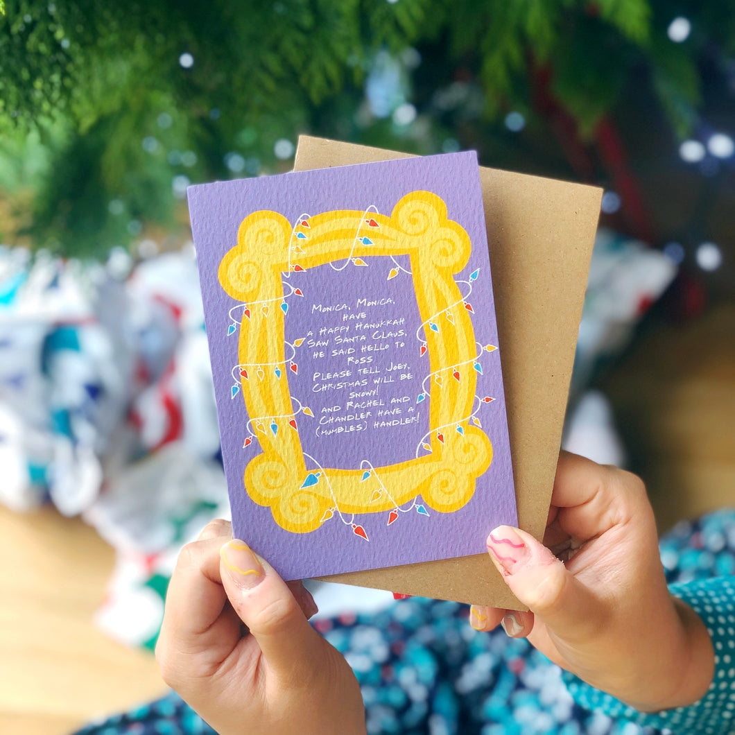 Phoebe's Christmas Song Friends TV Show Charity Christmas Card