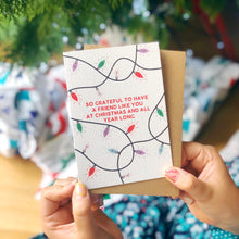 Friendship Christmas Card 'So Grateful For A Friend...'