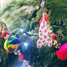 Personalised Colourful Christmas Rocket Decoration