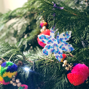 Personalised Colourful Christmas Snowflake Decoration